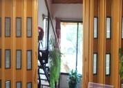 Puertas plegables en pvc