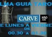Tarot gratis de lunes a viernes de 00.30 a 01.30 por radio carve