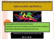 Temas para el concurso de oposiciÓn de docentes de educaciÓn artÍstica del ceip