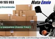 Servicio cadeteria, envios en moto, minibultos