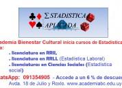 Estadística laboral y social. clases en academia especializada