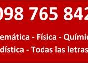 Clases particulares filosofia sociologia literatura id español biologia ciudadana  098765842
