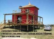 Construcciones de cabañas  de madera.constructor construcciones rocha uruguay