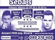 Peluqueria.sebas. sms 091847720