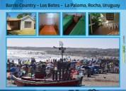 Oportunidad!. casitas playa los botes barrio country la paloma rocha