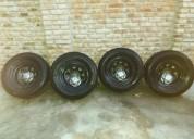 Excelente ruedas completas 8 pulgs ancho cub nueva