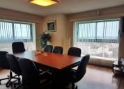 Excelente oficina piso 21, 160 metros, equipada, 2 garajes, contactarse.