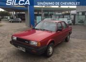 Excelente nissan sunny b12 lx 1992 rojo 4 puertas