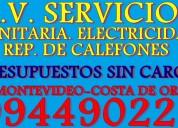 Av servicios sanitarios electricidad, reparacion de calefones