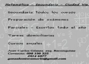 Matemática - secundaria todos los cursos - preparación de exámenes - ciudad vieja - centro