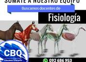 Cbq clases particulares - llamado a docentes de fisiología veterinaria - 092686953