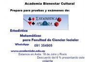 Estadística y matemáticas para facultad de ciencias sociales