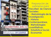 Preparación de exámenes  y pruebas para facultades