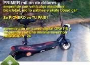 Se un pionero!! negocio de vehículos ecológicos