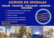 Cursos de inglÉs, japones, italiano, frances, esp.