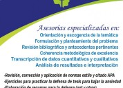 Asesorías de tesis y trabajos de investigación.