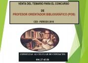 Concurso de profesor orientador bibliogrÁfico -pob