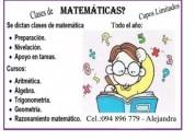 Clases particulares Matematicas Quimica Fisica y Biologia. Contactarse.