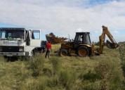 Alquier de excavadoras y camiones en tala