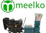 Peletizadora meelko 260 mm 35 hp diesel para conce