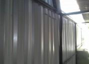 Armo techos antitormentas de hierro y chapa garantisados