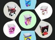 Cajitas personalizadas para cumpleanos infantiles