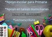 clases de apoyo escolar primaria
