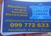 Sanitario albañil revestidor en Montevideo