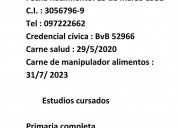 Busco Trabajo de Lo Q Sea en Montevideo
