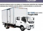 Foton camion doble cabina furgon carga 4 5 toneladas iva en montevideo