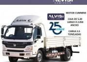 Foton aumark camion cummins carga 5 5 ton con caja iva en montevideo