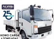 Howo camion c caja piso labrado carga 6 toneladas a a iva en montevideo