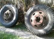 2 ruedas de camion 900 x 20 con mazas para zorra o auxiliares 4000 ps 111122 kms