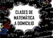 Clases particulares de matematica a domicilio de a 6to de secundaria y calculo 1 o equivalentes en m