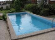 Casita ph 50 ms mar piscina, jardín , parrilla