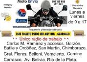 Servicio de moto envio, mensajeria medica