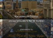 Vacantes en ventas en las vegas y new york