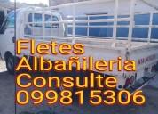 Fletes mudanzas traslados albañileria 099815306.