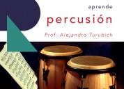 Clases de percusiÓn en escuela de música recrearte