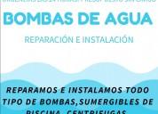 Reparacion e instalacion de bombas de agua