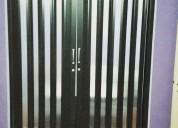 Puertas traslucidas plegables