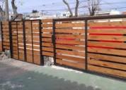 Herrero rejas perimetrales, portones de madera