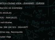 MatemÁtica ciudad vieja- cursos online - exÁmenes