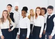 Trabajadores de hoteles y restaurantes en américa