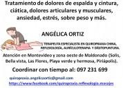 Quiropraxia, reflexología, aurículoterapia.