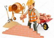Trabajos de albañileria y cortador de cesped