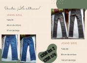 Jeans azul y gris